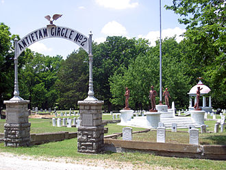 Parsons, Kansas - Civil War veterans bought a portion of Oakwood Cemetery in 1886 and named it Antietam Circle