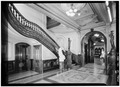 October 1960 SOUTHEAST CORNER OF STAIRHALL - Crocker Art Gallery, 216 O Street, Sacramento, Sacramento County, CA HABS CAL,34-SAC,20-8.tif