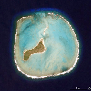 Oeno Island - Satellite photo of Oeno Island