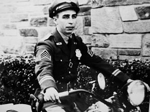 Montgomery County Police Department - An MCPD policeman in 1929 on a motorcycle.