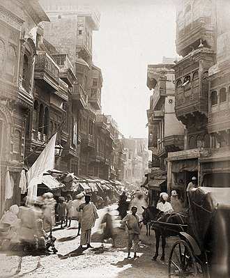 Walled City of Lahore - The Walled City around 1890.