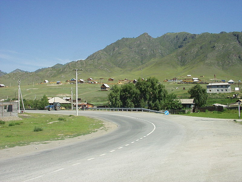 File:Ongudai settlement in Altai Republic.JPG