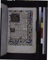 Opening of main text, rubric, initials, border design (NYPL b12455533-425940).tif