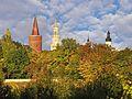 Opole - Wieża Piastowska, ratusz, Kościół Franciszkanów.jpg