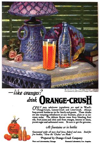 Crush (soft drink) - Logo for Ward's Orange Crush, c. 1921