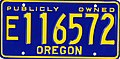 Oregon Exempt Publicly Owned license plate (blue).jpg