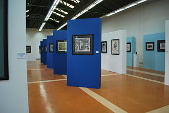 Salón de la Plástica Mexicana - View of the Origen de un Acervo exhibition, a group of works by members of the Salón in order to support workers of the Pascual Boing enterprise
