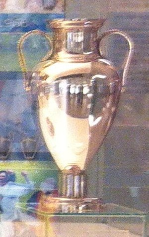 European Champion Clubs' Cup - The original European Cup design, awarded to Real Madrid permanently in 1967.