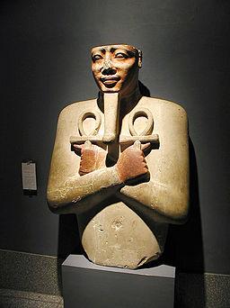 Osiride pillar of king Senusret I