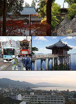 Enryaku-ji, Ishiyama-dera Otsu Festival and the tram, Mangetsu-ji Ukimido City view and Lake Biwa