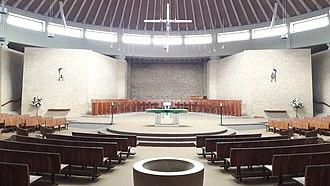 Worth Abbey - Interior of the abbey church