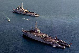Ouragan-class landing platform dock - Image: Ouragan HMS Intrepid DN SC 90 08863rc