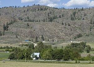 Riverside, Washington - Farm and barren hills near Riverside