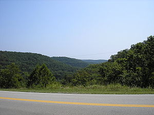 Picture of the Ozark Mountains from Missouri S...