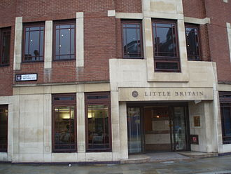 Little Britain, London - An office building on Little Britain.