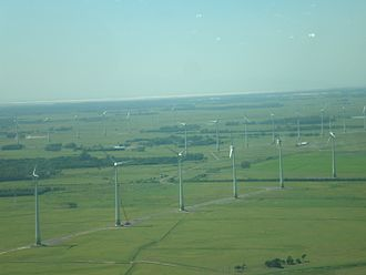 Renewable energy in Brazil - Windfarm in Osório, Rio Grande do Sul.