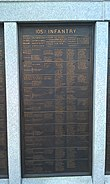 PA 105th Wildcat Regiment Plaque on the Pennsylvania Monument in Gettysburg, PA