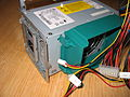 PC Power Supply Unit PSU wird CPU cooler air flow funnel IMG 8127.JPG