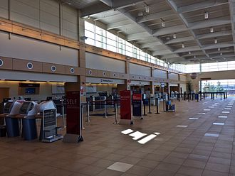 General Wayne A. Downing Peoria International Airport - Ticketing area in the main terminal.