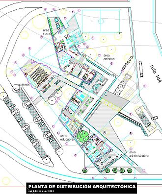 Free stationing - Example of a Site plan.