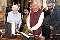 PM Modi meets Queen Elizabeth II at Buckingham Palace.jpg