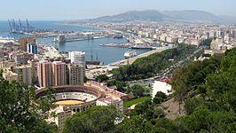 Málaga desde el monte Gibralfaro