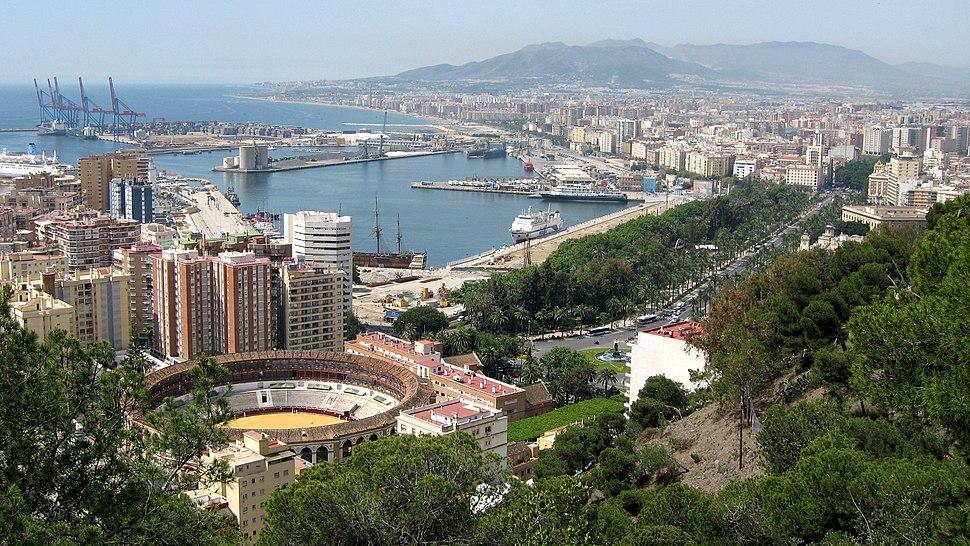 Málaga desde o monte Gibralfaro