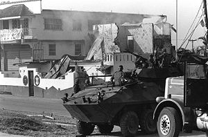 United States invasion of Panama - A U.S. Marine Corps LAV-25 in Panama