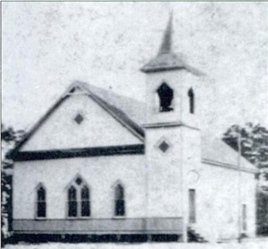 First Baptist Church (Panama City, Florida) - The first sanctuary of First Baptist Church in Panama City