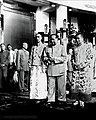 Panchen Lama, the 14th Dalai Lama of Tibet and Mao Zedong in Beijing on 11 September 1954.jpg