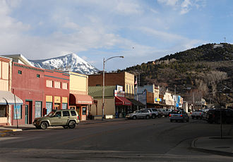 Paonia, Colorado - Paonia's Grand Avenue, looking south