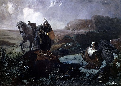 Pappenheim's death, Tilly by moonlight, riding across the battlefield of Lützen, finds the wounded Pappenheim