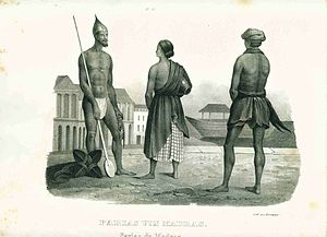 Outcast (person) - Image: Pariahs of Madras a German engraving, 1870's