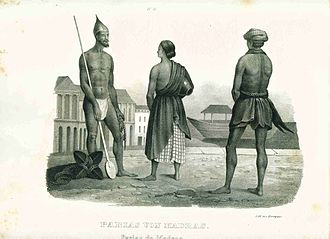 Outcast (person) - Image: Pariahs of Madras a German engraving, 1870's