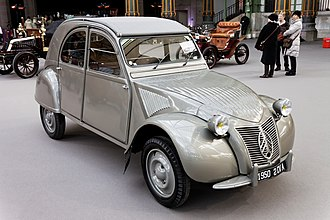 "Citroën 2CV - First generation ""ripple bonnet"" Citroën 2CV built from 1949 to 1960"