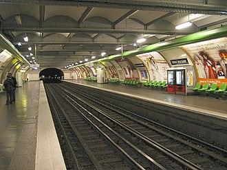 Paris Métro Line 8 - The École Militaire station before its renovation, which began in 2008