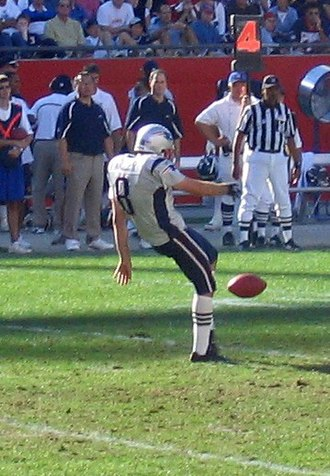 Kick (football) - An American Football Punter.