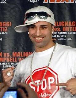 Paulie Malignaggi American boxer