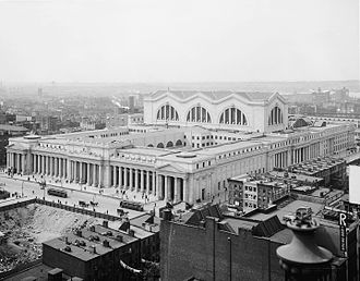 Pennsylvania Station (1910–1963) - View from the northeast in the 1910s