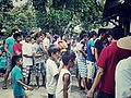 People line up to vote at a precinct in San Joaquin, Mabalacat City, Pampanga, Philippines.jpg
