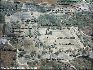 Peralta (Mesoamerican site) - Peralta Aerial View, site photograph edited