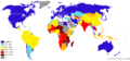 Percentage population living on less than 1 dollar day 2007-2008.png