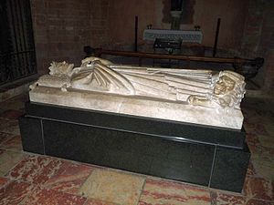 Sancho of Majorca - Sancho's tomb in the Cathedral of Perpignan, by Frederic Marès