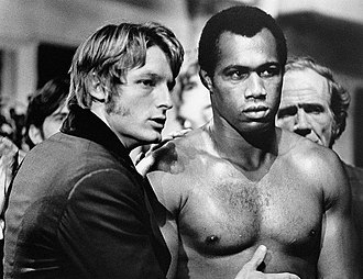 Ken Norton - On set of Mandingo (1975) with actor Perry King
