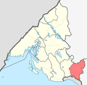 Pervomayskoye, Leningrad Oblast - Pervomayskoye Rural Settlement on the map of Vyborgsky Municipal District