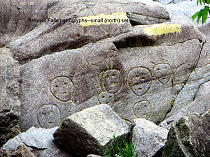 Bellows Falls, Vermont - Close up of the Bellows Falls Petroglyph Site (2014)