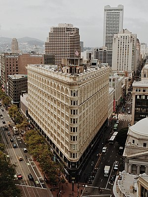 Phelan Building - A view of the Phelan Building from the Central Tower, 2014