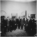 Photograph of Meeting with Leaders of the March on Washington August 28, 1963 - NARA - 194276.tif