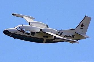 Piaggio Aerospace - A Piaggio P.166 in flight