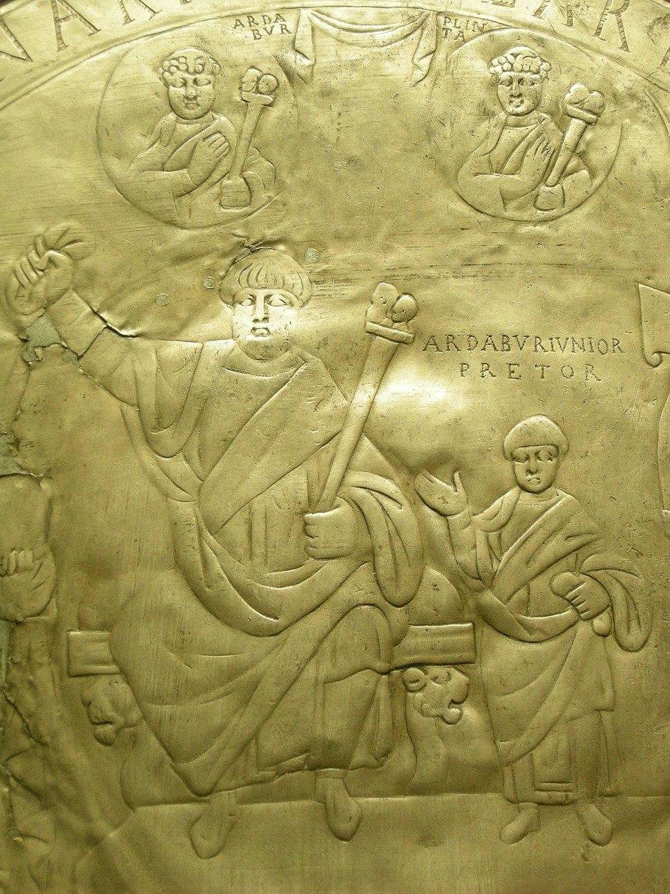 Piatto di ardaburio, argento fuso, 434 d.c. (found in 1769) 03